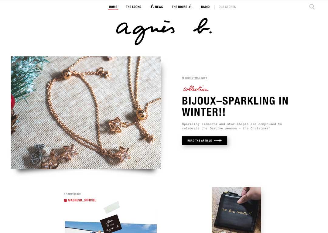 agnesb.asia website screenshot
