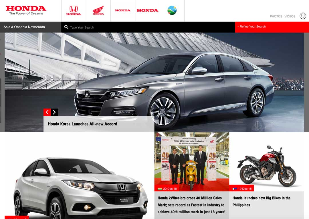 HondaNews.asia website screenshot