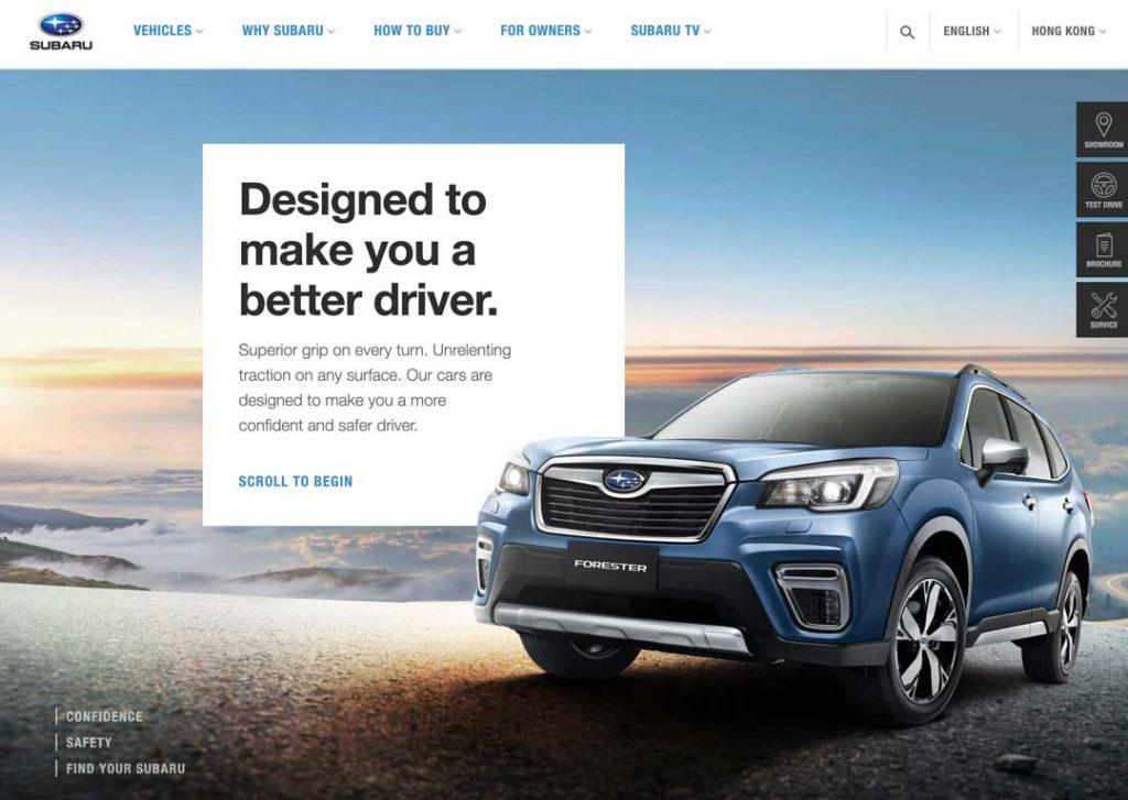 Subaru.asia website screenshot