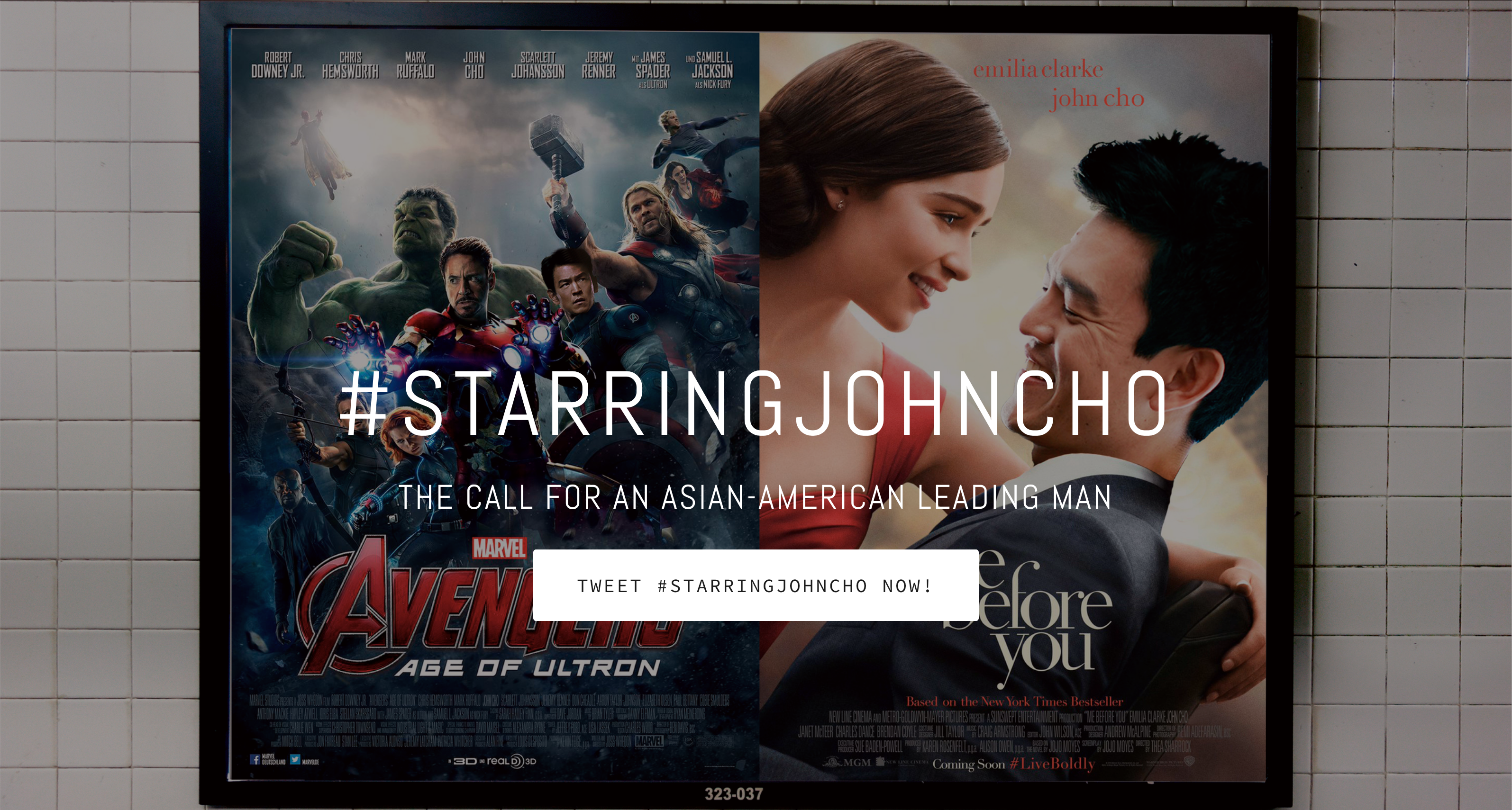 #StarringJohnCho movie poster mockups